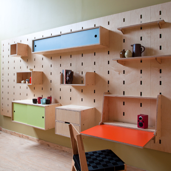 Modular Furniture Part - 50: Wall-mounted Furniture Systems Are A Really Smart Solution To Limited Floor  Space. One Such System Is The Kerf Wall By Seattle Based Kerf Design.