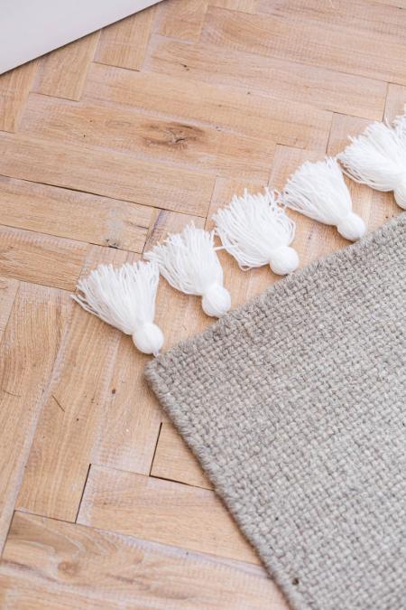 DIY Tassel Rug