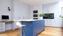 Dark Blue Kitchen Clair Strong Interiors