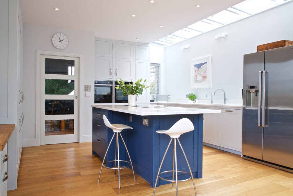 Farrow & Ball Hague Blue contemporary kitchen