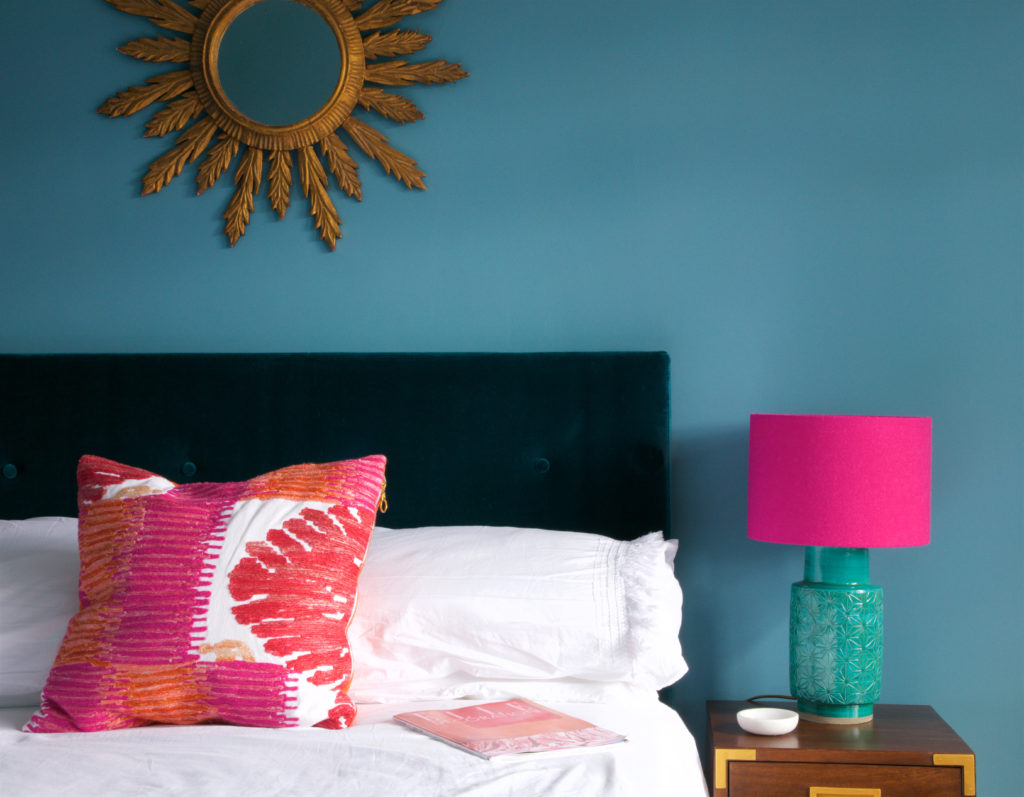 Mix and match brights for a fun bedroom