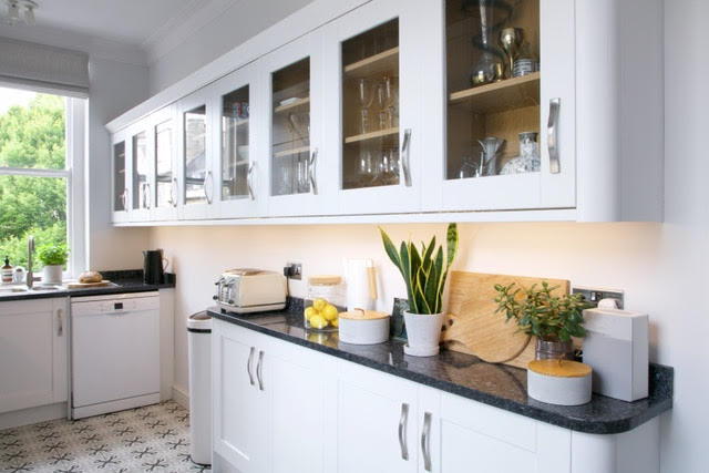 Classic contemporary kitchen using Paint&Paper Library paints and Fired Earth tiles